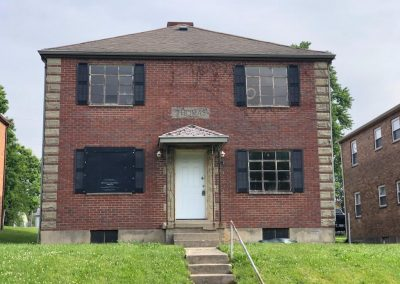 1. front of building 215 ryburn